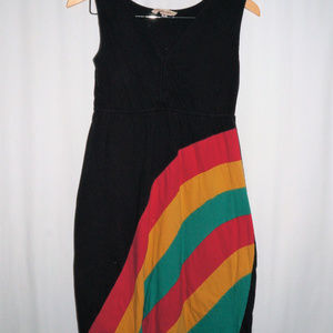 Yak n Yeti mid length dress with stripes